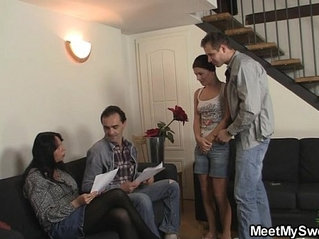 Girlfriend fucks his whole family