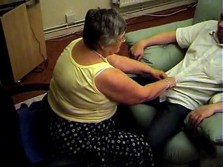 Grandma libby from fucktubeporn.xyz gives blowjob and footjob