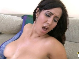 Brunette Isis Love gets ass jizzed