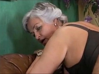 Grey Haired Granny in a Gangbang