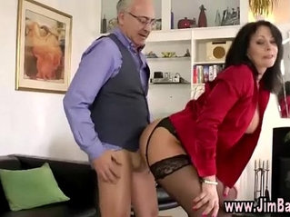 Stockinged whore pounded