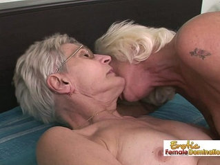 Nasty grannies having lesbian sex in the old folks home